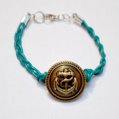braided anchor bracelet -- to do with my grandfather's navy button!