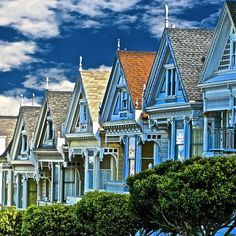 """The Victorian homes known as the """"Painted Ladies"""""""