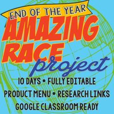 End-of-the-Year Amazing Race Project Geography/World Cultures by Creath's Class | Teachers Pay Teachers