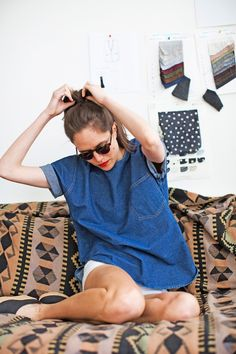camp comfort denim tunic