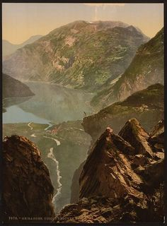 [General view towards Merok, Geiranger Fjord, Norway]      Repository: Library of Congress Prints and Photographs Division Washington, D.C. 20540 USA http://hdl.loc.gov/loc.pnp/pp.print