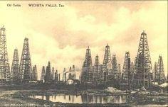 Oil fields. Wichita Falls, TX 1920's