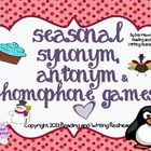 Take advantage  of my Blizzard blowout sale and get this pack of all my games half off, for only $ 2.25 n Seasonal Antonym, Synonym, and Homophone Games contains 3 different games, 19 pages in all for students in grades 1-3 to practice their skills. The...