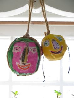 Recycle Heads Couple Hanging  Ornaments by CharestStudios on Etsy, $24.00