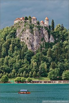 Blejski Grad, Bled Castle on Lake Bled, Slovenia.