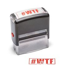 WTF did you just read? This self-inking stamp lets you quickly express how you REALLY feel. Just don't come crying to us if your boss doesn't appreciate you using it on official documents.