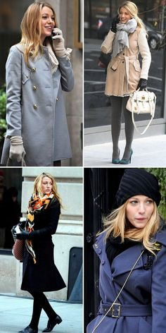 Gossipi Girl: 13 winter outfits from Serena Van Der Woodsen (Blake Lively) and her style and fashion tips. Looks de inverno de Blake Lively como Serena Van Der Woodsen na nossa série favorita, XOXO Gossip Girl!