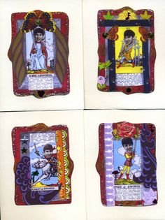 The Beatles greeting cards,4 card set, blank inside, the Beatles, rock and roll, note cards, tarot cards with the Beatles, Tarot cards