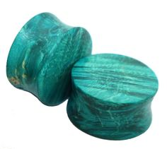 The Turquoise Blue Wood Plug Pair by WoodGauges on Etsy, $25.00