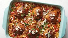 Mexican Chicken Orzo Bake
