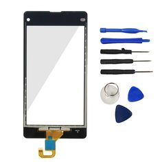 A++ Quality For Sony Xperia Z1 Mini Compact D5503 Out Front Glass Lens + Touch Screen Digitizer Sensor Repair Parts Tools Logo
