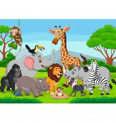 Find Cartoon Wild Animals Jungle stock images in HD and millions of other royalty-free stock photos, illustrations and vectors in the Shutterstock collection. Crab Cartoon, Cartoon Monkey, Pet Monkey, Cartoon Jungle Animals, Cute Animals, Wild Animals Pictures, Animal Pictures, Free Cartoon Images, Cartoon Reindeer