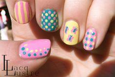Fluttershy nail art manicure