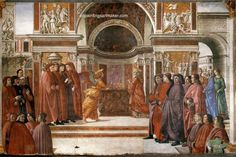 Domenico Ghirlandaio Angel Appearing to Zacharias, painting Authorized official website