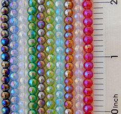 1000 Assorted 4mm AB Iris Rainbow Mirror Finish Round Bulk Red Purple Pink Beads