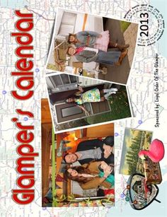 2013 Glamping Calendar. All proceeds go to the American Red Cross for hurricane Sandy relief. Great Christmas gift! http://www.magcloud.com/browse/issue/470069