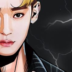 """Chen - 170720 Illustrator Yim Sunggu's Instagram update: """"EXO 'KoKo Bop' [The War] Album Illustration Detail Cut CHEN by @_byfrank"""" Credit: _byfrank."""