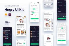 Hngry UI Kit - Food Delivery UI Kit by niculicivictor on Envato Elements