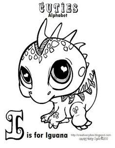 Creative Cuties: Iguana Coloring page