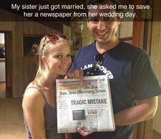 Worst Headline for marriage! - more at http://www.thelolempire.com