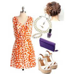 Clemson Gameday Look - Polka Dots and Pearls