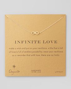 Infinite Love Gold-Dipped Necklace