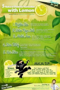 5 Natural Beauty Remedies with lemon