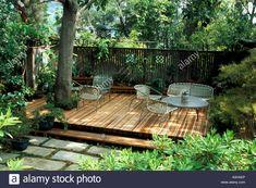 Backyard Deck Around Trees Ideas For 2019 Deck Around Trees, Tree Deck, Patio Trees, Deck Patio, Tree House Deck, Pallet Patio Decks, Outdoor Decking, Tree Tree, Backyard Patio Designs