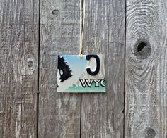 Upcycled Wyoming License Plate State of Wyoming Ornament by LicenseToCraft