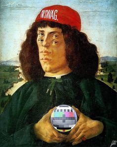 #botticelli #portrait #renaissance #swag #nosignal #art #artwork  Will I need a new antenna?
