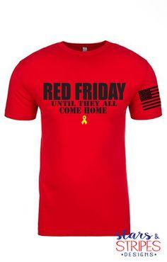 Red Friday Men's Tee. USMC Army Navy.