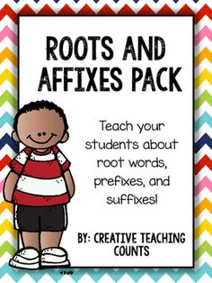 Looking for a fun way to teach your students about prefixes, suffixes, and root words?YOU HAVE COME TO THE RIGHT SPOT! In this pack, students will learn what makes up a word and what those parts are called. Whether you are preparing for a state test, incorporating vocabulary into your ELA lessons, or working on grammar, this resource will benefit your students!