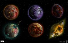 ArtStation - Doom 2016 Environment- Orbital Dead Planet , Bryan Flynn