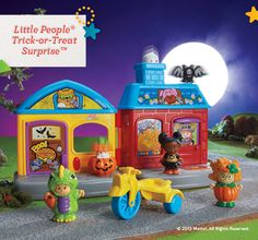 Shop for Little People® Trick-or-Treat Surprise™ and buy something new for your little one to explore. Find the perfect Little People toddler toys right here at Fisher-Price. Toddler Gifts, Toddler Toys, Gifts For Kids, Halloween Haunted Houses, Halloween House, Christmas Wishes, Kids Christmas, Preschool Block Area, Preschool Toys