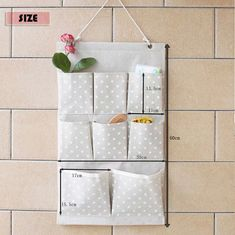 8 pockets storage pocket /wall pocket / wall storage bag / household storage/back door pouch