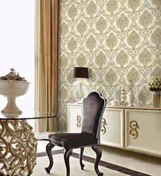 Damask Wallpaper Design from Blumarine Home