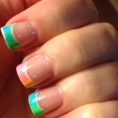 Tye Dye french tip
