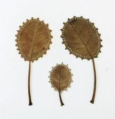 Family  9.5 x 9 cm  magnolia leaves, cotton yarn