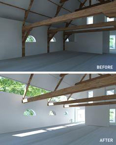 Haus Renovierung alte Scheune Vorher Nachher-Bilder