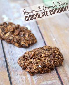 Chocolate Coconut Granola Bars (GF)