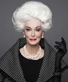 Gorgeous Grey Hair: A Proud Legacy Carmen Dell'orefice, Older Models, Advanced Style, Glamour, Grey Hair, Silver Hair, Timeless Beauty, Big Hair, Fashion Over