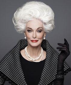 Gorgeous Grey Hair: A Proud Legacy Carmen Dell'orefice, Daniel Golz, Richard Avedon, Advanced Style, Ageless Beauty, Glamour, Old Models, Grey Hair, Big Hair