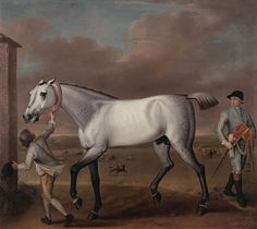 """The Duke of Hamilton's Grey Racehorse, 'Victorious,' at Newmarket"" Artist: John Wootton circa 1775  John Wootton was an English painter of sporting subjects, battle scenes and landscapes, and illustrator.  Fine Giclee Print This print delivers a vivid image with maximum color accuracy and exceptional resolution. The standard for museums and galleries around the world.  Suitable for Framing Archival Quality Framed Art Prints, Poster Prints, American Black Bear, Victorian Paintings, Animal Art Prints, Racehorse, Horse Art, Art Reproductions, Art Google"