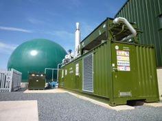 the anaerobic digester generates biogas derived from food waste originating from the surrounding area.