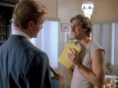 Quantum Leap- What Price Gloria? October Sam Beckett's first experience leaping into a woman named Samantha Stormer. Scott Bakula is a great sport on this episode. Makes one funny looking woman. Dean Stockwell, Quantum Leap, Women Names, Favorite Tv Shows, Acting, October, Sport, Woman, Funny