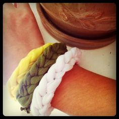 Knotted bracelet- stretchy fabric~ perfect for the beach!