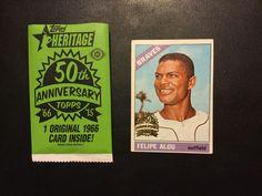 2015 Topps Heritage High Series Buyback '66 Felipe Alou 50th Anniversary #AtlantaBraves