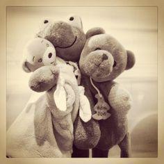 Doudous #bear #frog