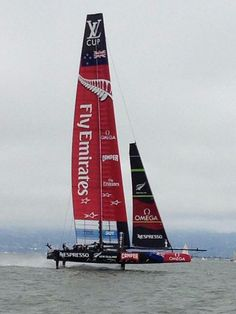 ETNZ America's Cup 2013. Our boat, named Aotearoa.