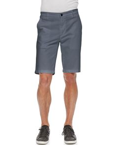 Griffin Flat-Front Shorts, Blue - AG